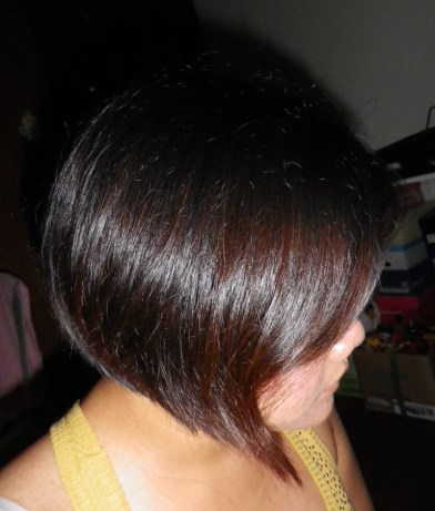 My hair prior to application.  I was using the Wine Red then.