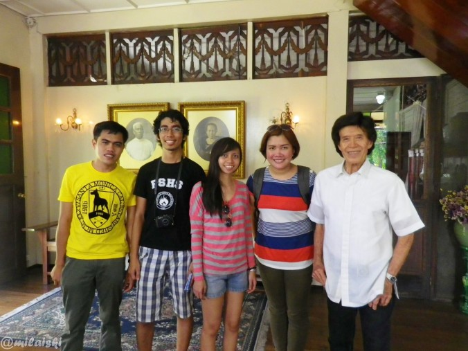 With the owner of the house, Mr. Ramon Hofilena.